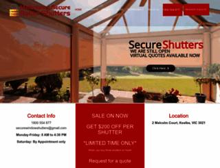 securewindowrollershutters.com.au screenshot