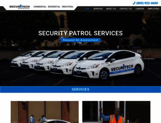 securitechguards.com screenshot