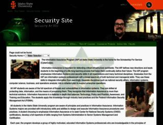 security.isu.edu screenshot