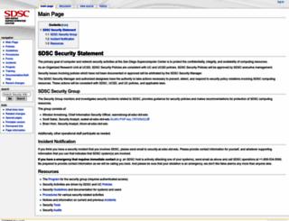 security.sdsc.edu screenshot