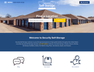 securityself-storage.com screenshot