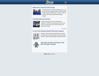 securityselfstorageltd.com screenshot