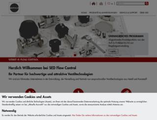 sed-flowcontrol.com screenshot