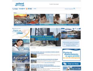 sedapal.com.pe screenshot