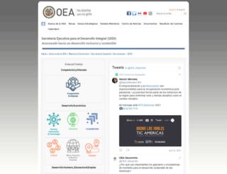 sedi.oas.org screenshot