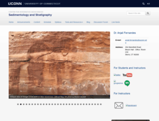 sedimentology.uconn.edu screenshot