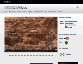 sedimentology.uconn.edu screenshot