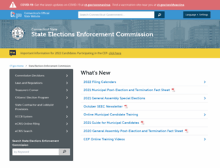 seec.ct.gov screenshot