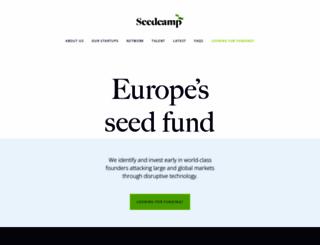 seedcamp.com screenshot