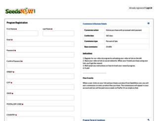 seedsnow.refersion.com screenshot
