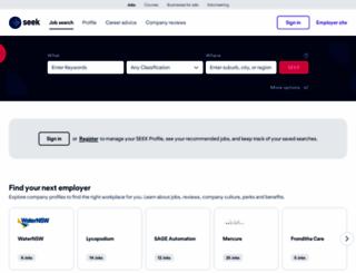 seek.com.au screenshot