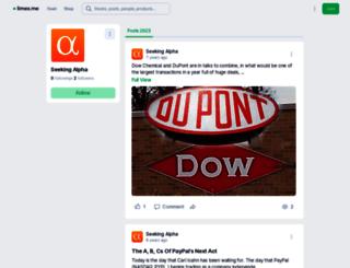 seekingalpha.whotrades.com screenshot