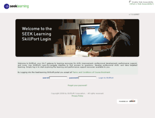 seeklearning.skillport.com screenshot