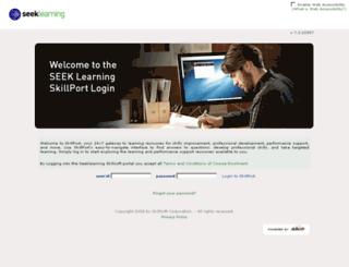 seeklearning.skillport.com screenshot
