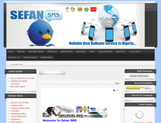 sefansms.com screenshot