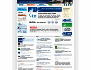 sefaz.ba.gov.br screenshot