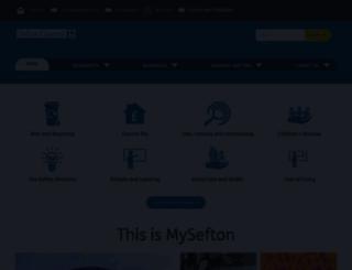 sefton.gov.uk screenshot