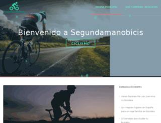 segundamanobicis.es screenshot