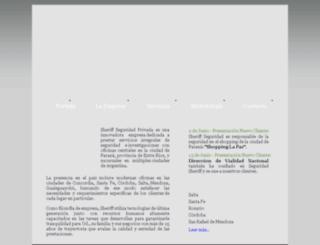 seguridadsheriff.com.ar screenshot
