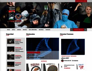 seguridadydefensa.com.pa screenshot