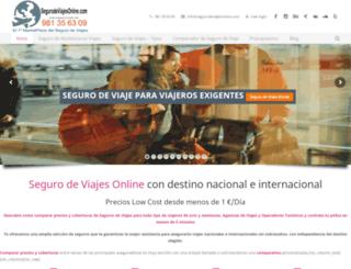 segurodeviajesonline.com screenshot