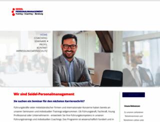 seidel-personalmanagement.com screenshot