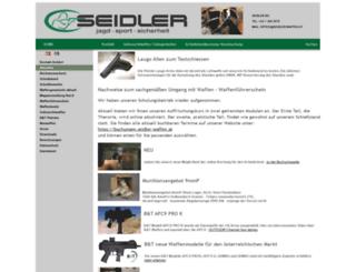 seidler-waffen.at screenshot