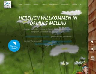 seilbahnendamuels.at screenshot