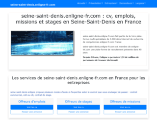 seine-saint-denis.enligne-fr.com screenshot