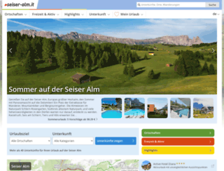 seiser-alm.it screenshot