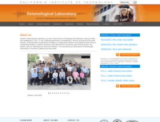 seismolab.caltech.edu screenshot