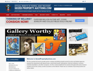 seizedpropertyauctions.com screenshot