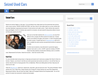 seizedusedcars.com screenshot