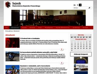 sejmik.kujawsko-pomorskie.pl screenshot