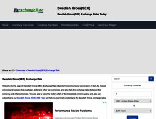 sek.fxexchangerate.com screenshot