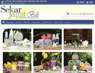 sekarjagatbali.com screenshot