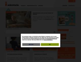 sekretaria.de screenshot