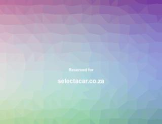selectacar.co.za screenshot