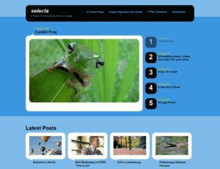 selectademo.wordpress.com screenshot