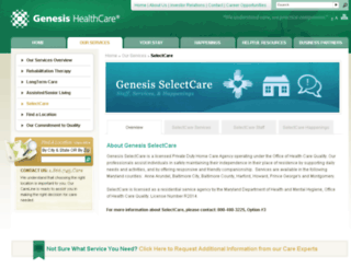 selectcare.genesishcc.com screenshot