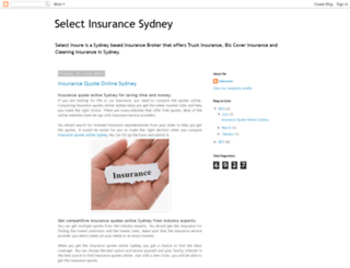 selectinsuresydney.blogspot.com.au screenshot