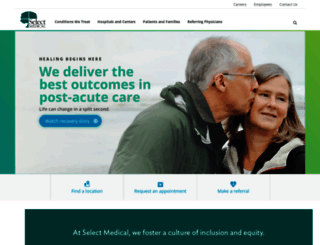 selectmedical.com screenshot
