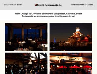selectrestaurants.com screenshot