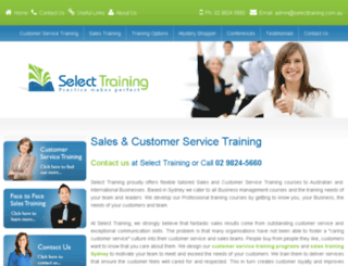 selecttraining.com.au screenshot