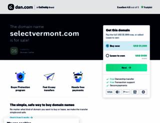 selectvermont.com screenshot