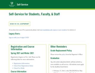 self-service.manhattan.edu screenshot