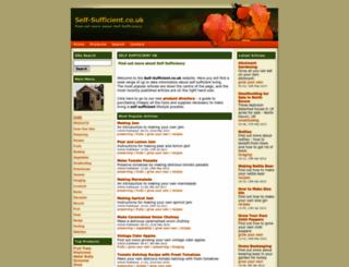 self-sufficient.co.uk screenshot