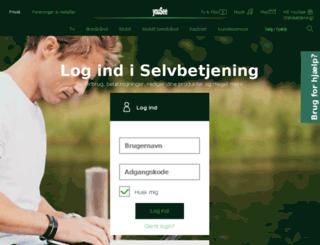 selfcare.tdc.dk screenshot
