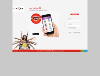 selfcare.tikona.in screenshot