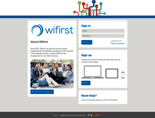 selfcare.wifirst.net screenshot